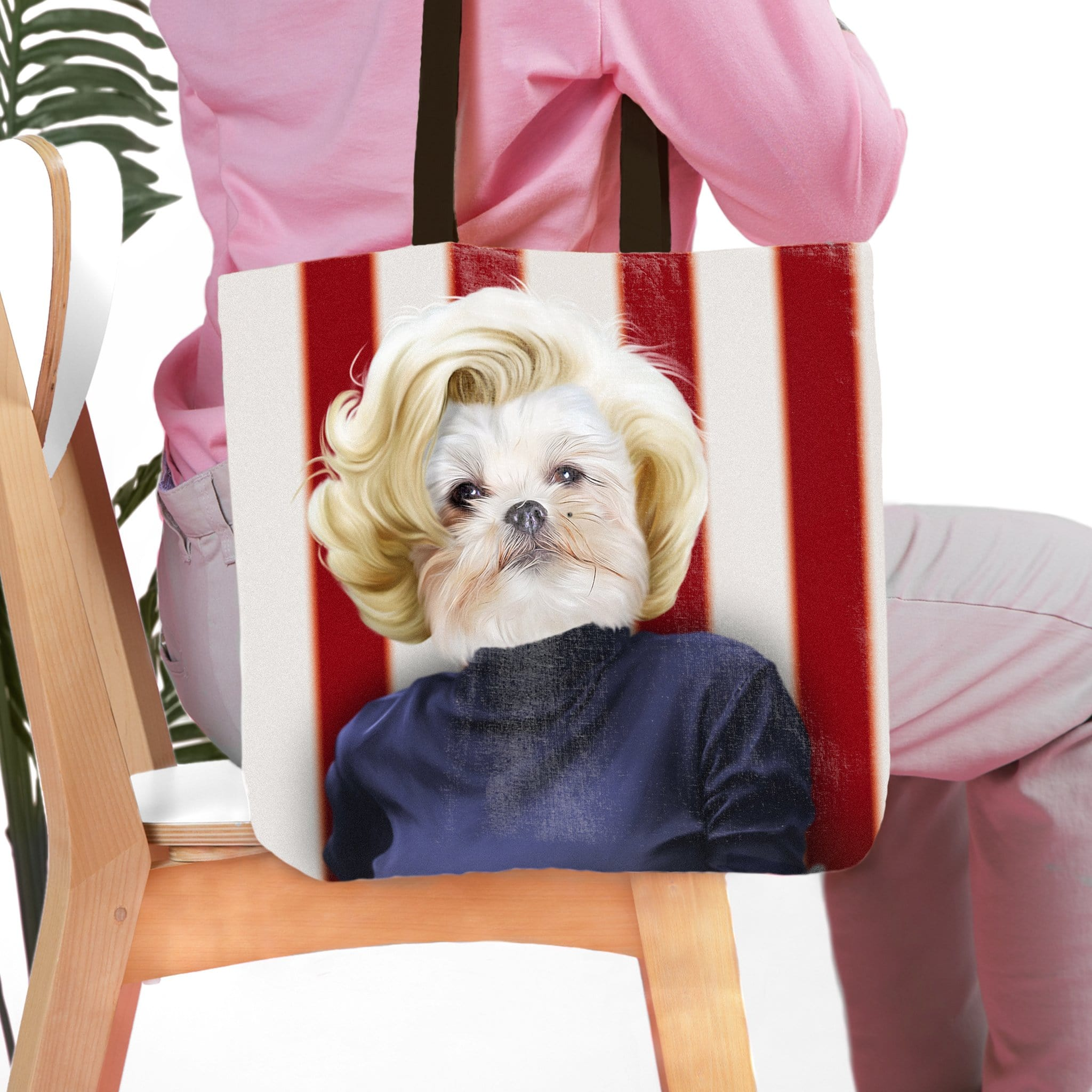 'Marilyn Monpaw' Personalized Tote Bag