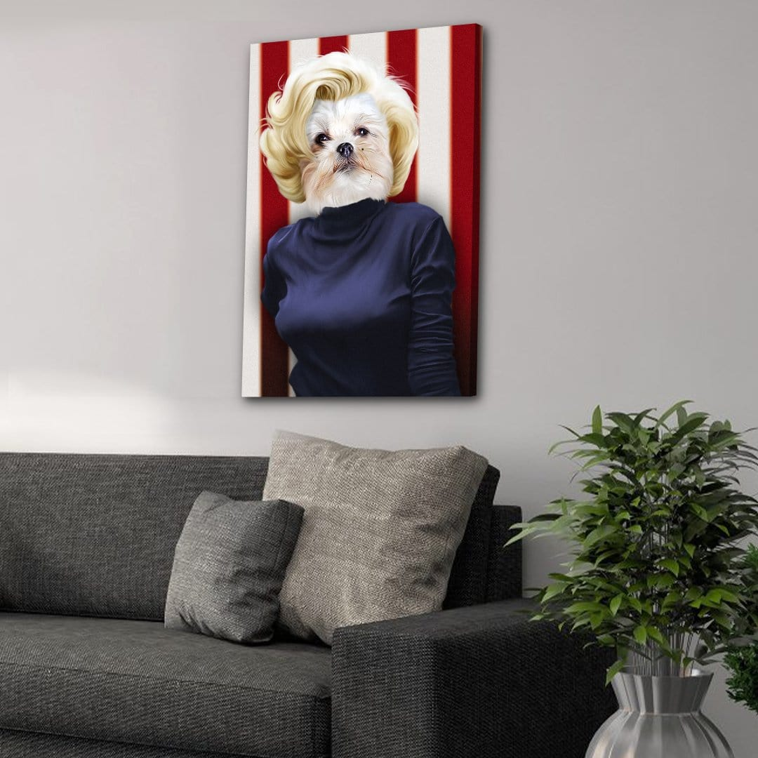 'Marilyn Monpaw' Personalized Pet Canvas