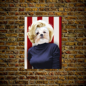 'Marilyn Monpaw' Personalized Dog Poster