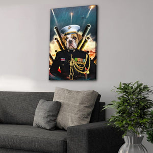 'The Marine' Personalized Pet Canvas