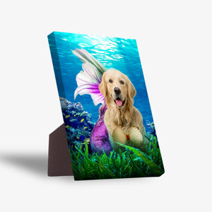 'The Mermaid' Personalized Pet Standing Canvas