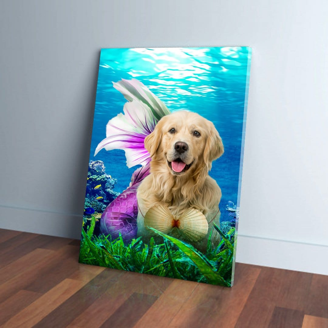 'The Mermaid' Personalized Pet Canvas