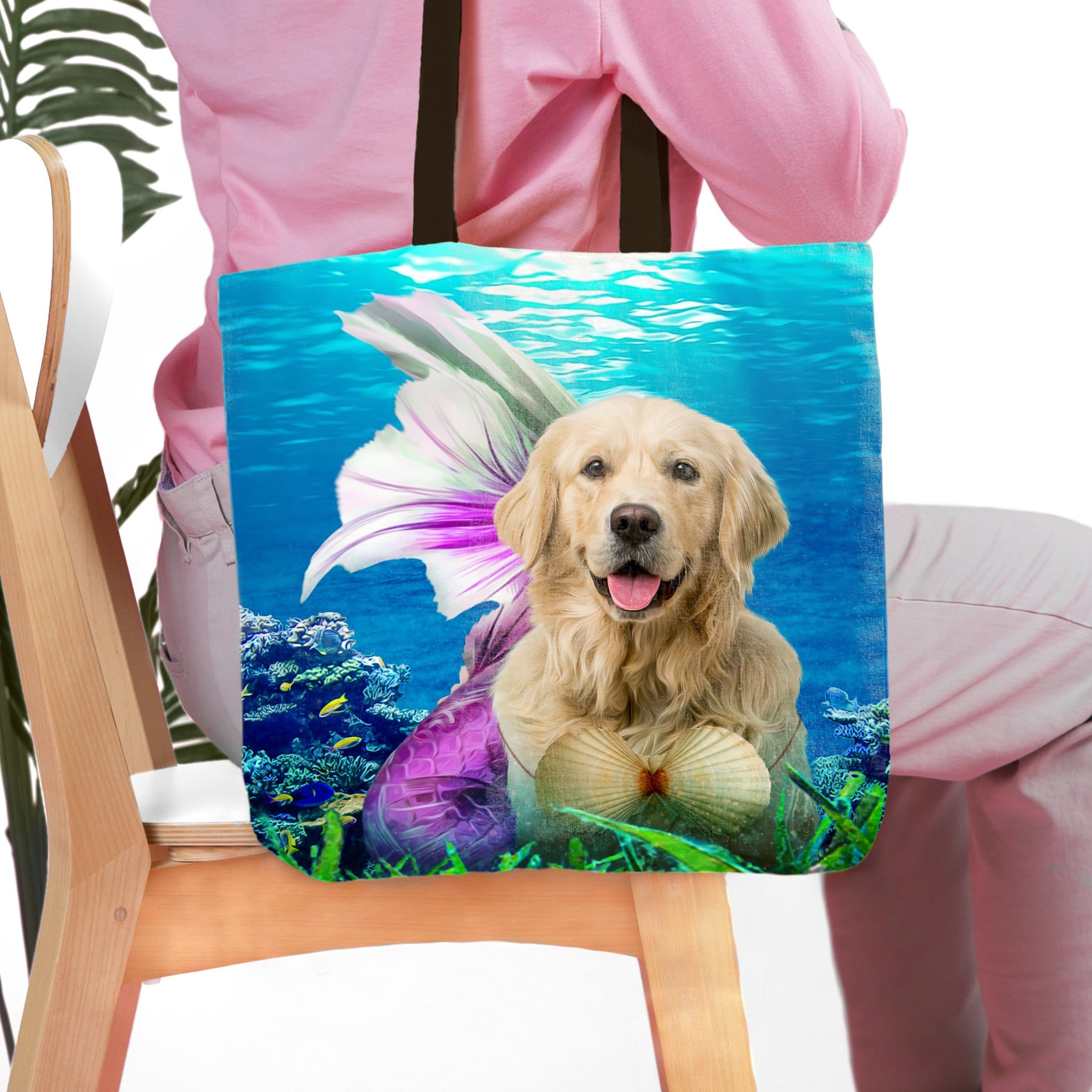 'The Mermaid' Personalized Tote Bag