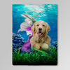 'The Mermaid' Personalized Pet Blanket