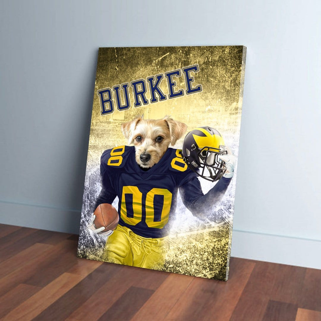 'Michigan Doggos' Personalized Pet Canvas