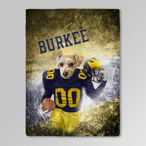 'Michigan Doggos' Personalized Pet Blanket