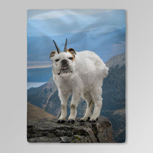 'Mountain Doggoat' Personalized Pet Blanket