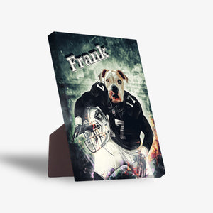 'Oakland Doggos' Personalized Pet Standing Canvas