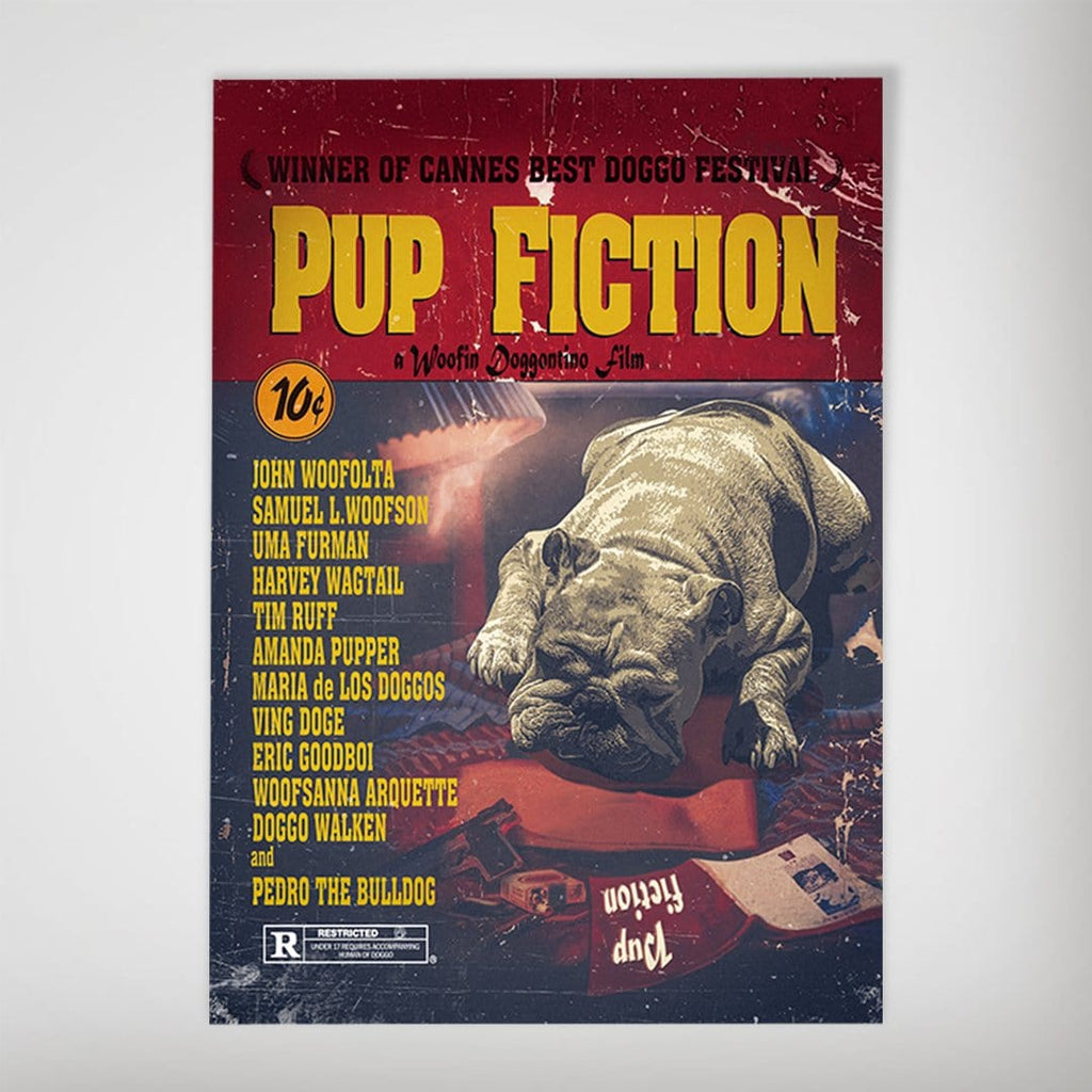 Pup Fiction: Personalized Dog Poster