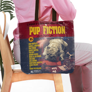'Pup Fiction' Personalized Tote Bag