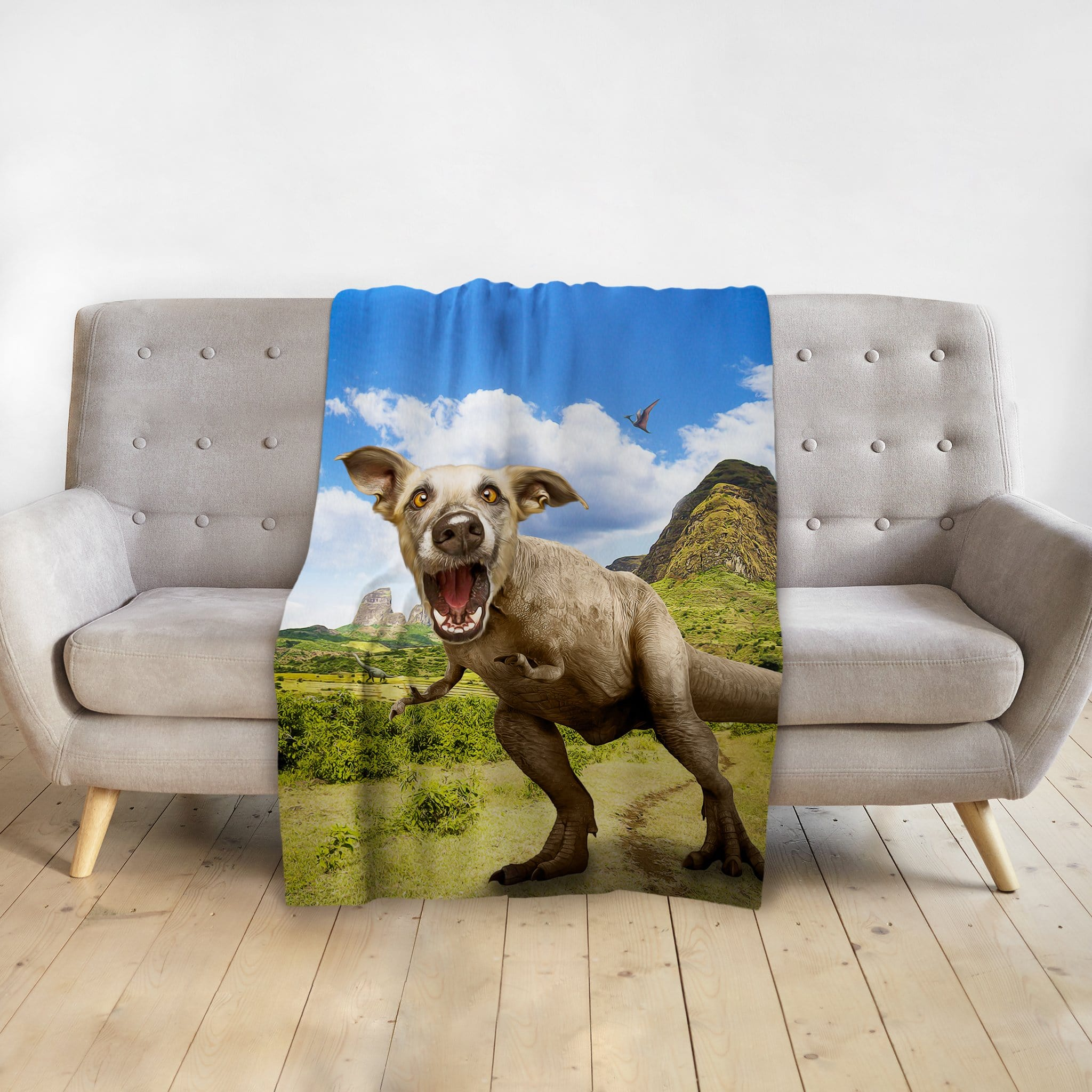 'Pawasaurus Rex' Personalized Pet Blanket