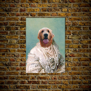 The Pearled Dame: Personalized Dog Poster
