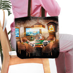 'The Poker Players' Personalized 3 Pet Tote Bag