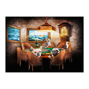 'The Poker Players' Personalized 4 Pet Digital Portrait