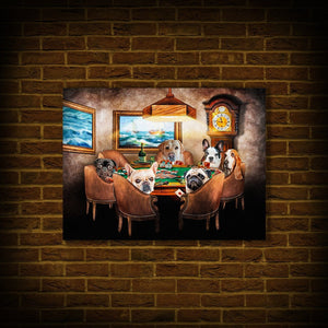 'The Poker Players' Personalized 6 Pet Poster