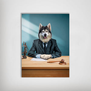 'The Lawyer' Personalized Pet Poster