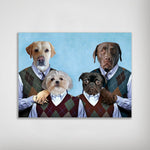 'Step Doggos' Personalized 4 Pet Poster