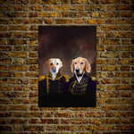 The Admiral and the Captain: Personalized 2 Pet Poster