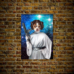 'Princess Leidown' Personalized Dog Poster