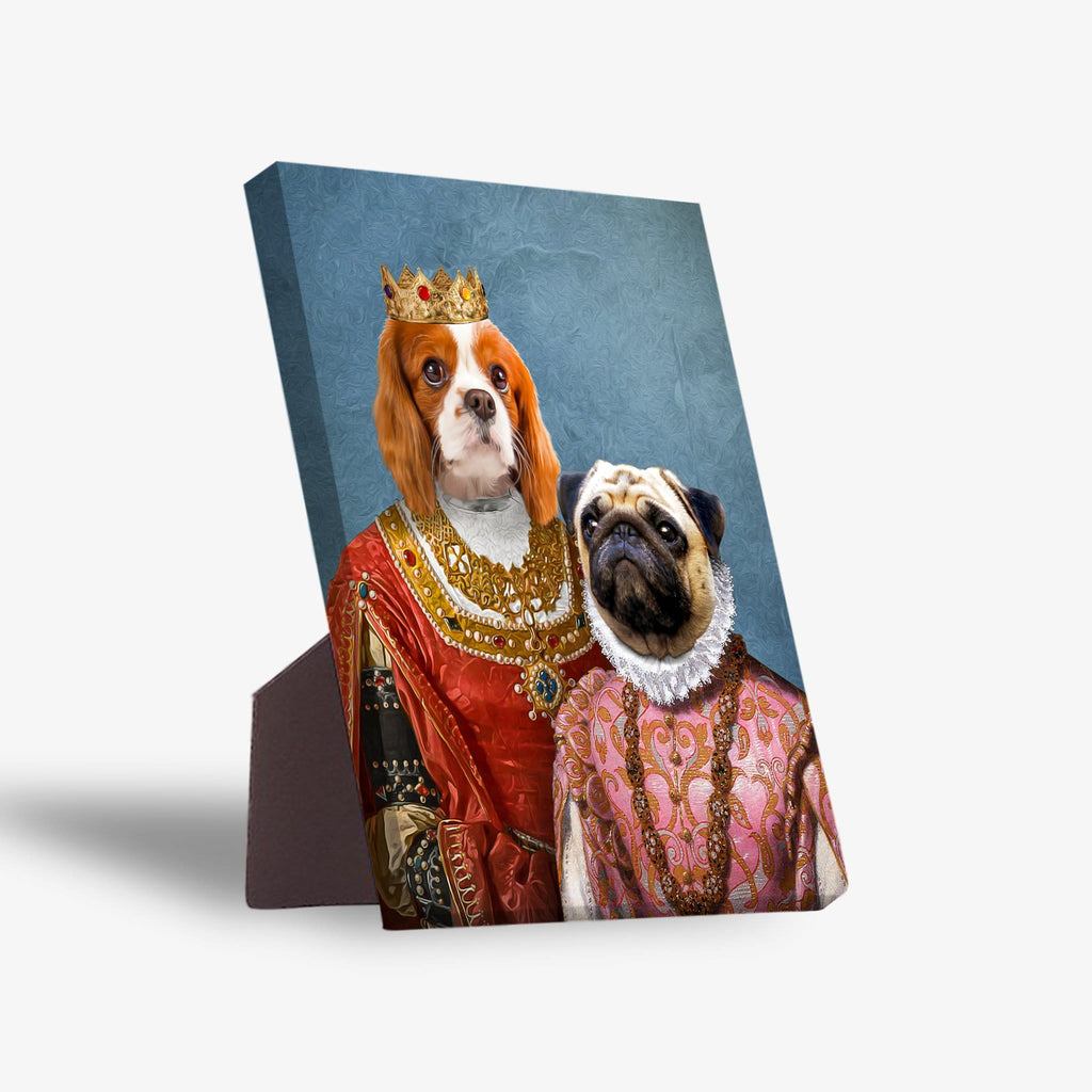 'Queen and Archduchess' Personalized 2 Pet Standing Canvas