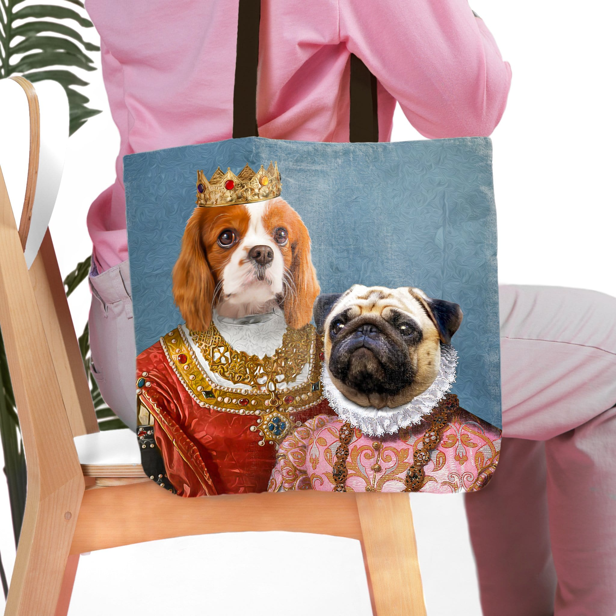 'Queen and Archduchess' Personalized 2 Pet Tote Bag