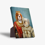'Queen and Princess' Personalized 2 Pet Standing Canvas