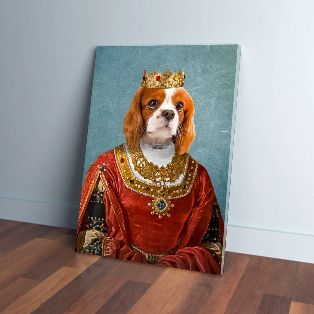 'The Queen' Personalized Pet Canvas