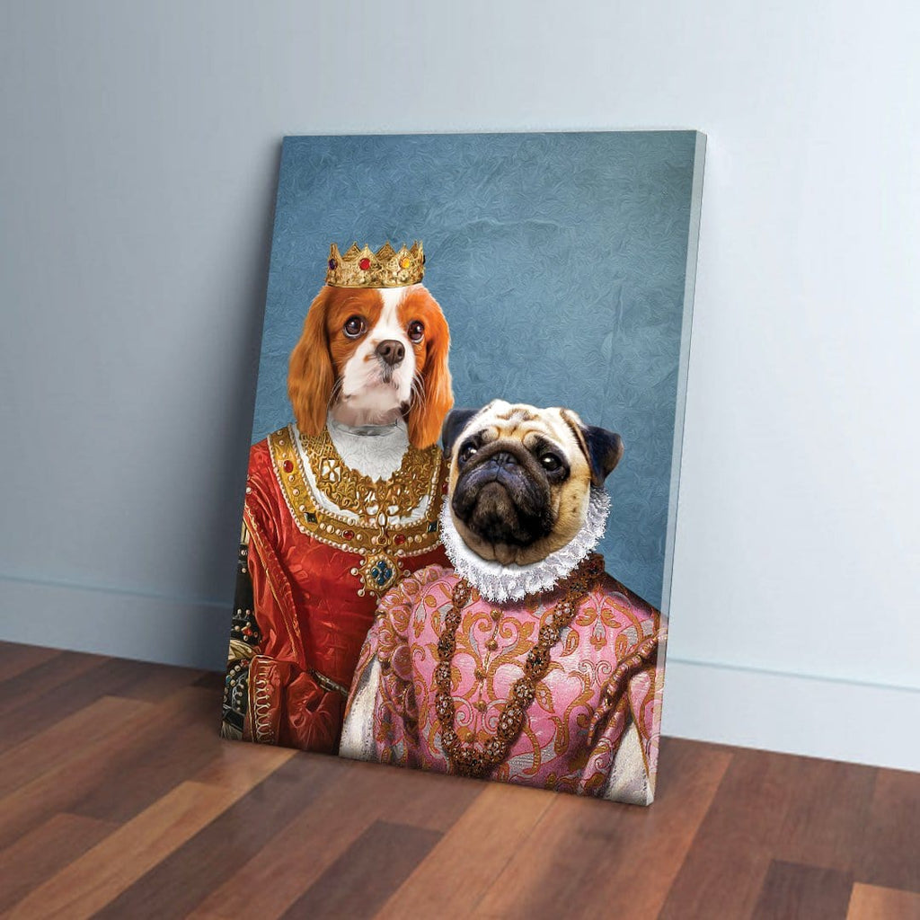 'Queen and Archduchess' Personalized 2 Pet Canvas