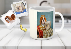 'Queen and Princess' Personalized 2 Pets Mug