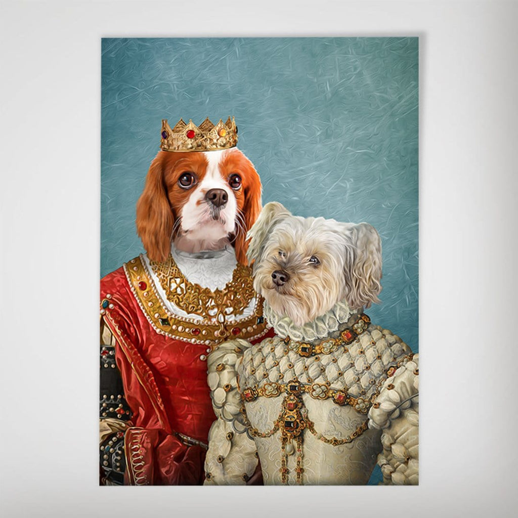 Queen and Princess: Personalized 2 Dog Poster