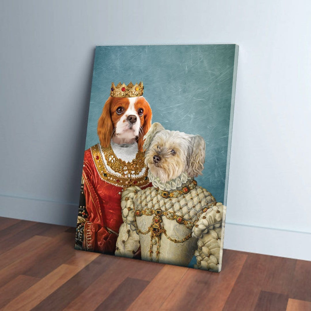 'Queen and Princess' 2 Pet Personalized Canvas