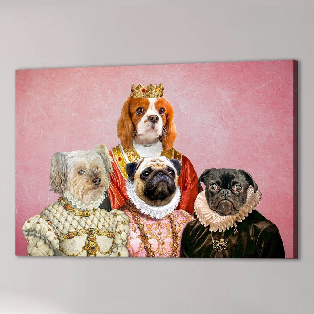 'The Royal Ladies' Personalized 4 Pet Canvas