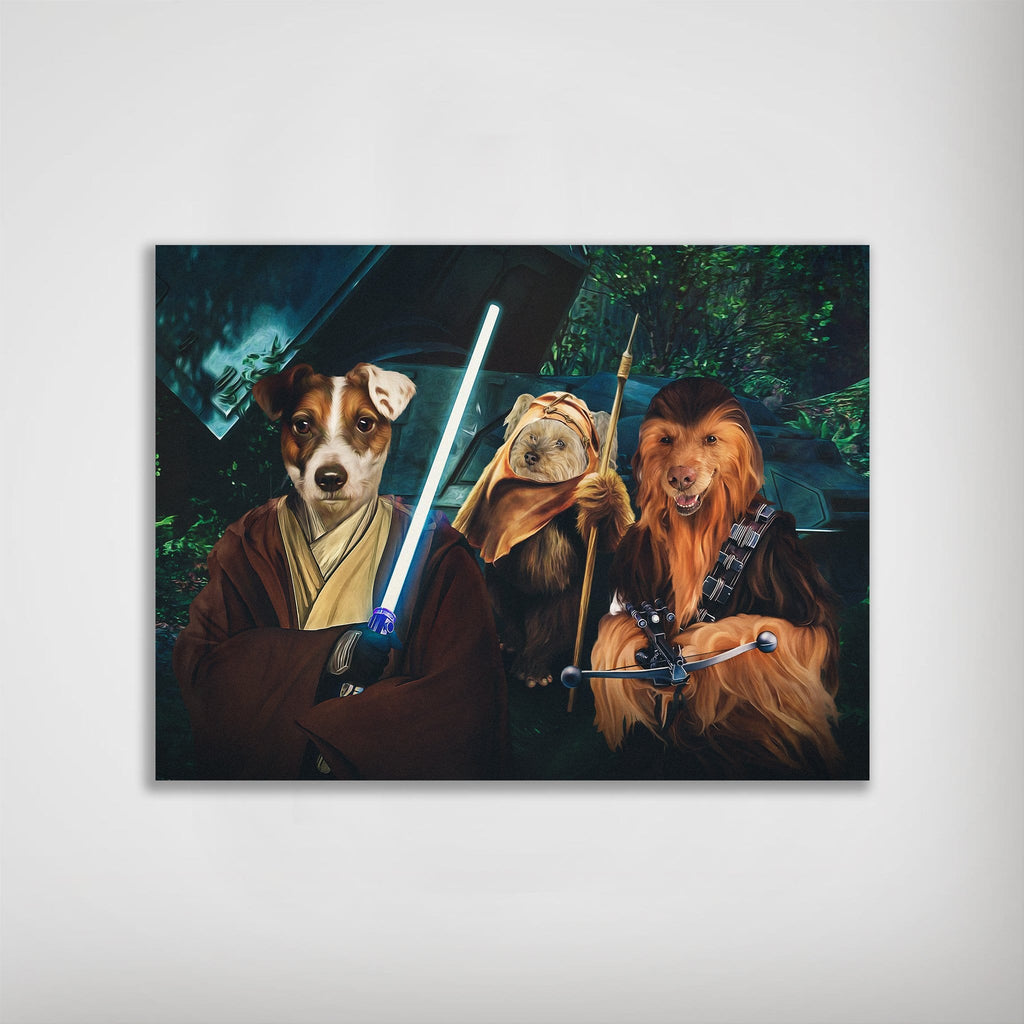 'Star Woofers 2' Personalized 3 Pet Poster