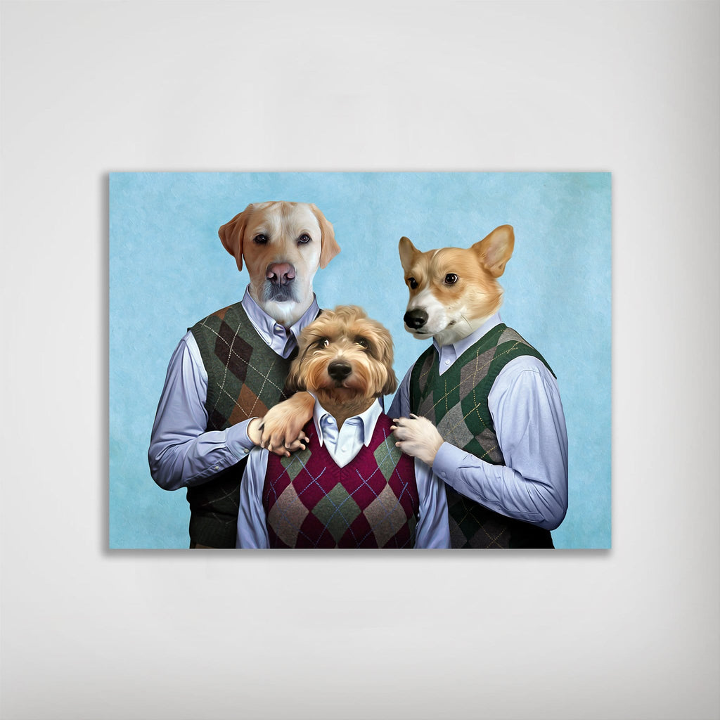 'Step Doggos & Doggette' Personalized 3 Pet Poster