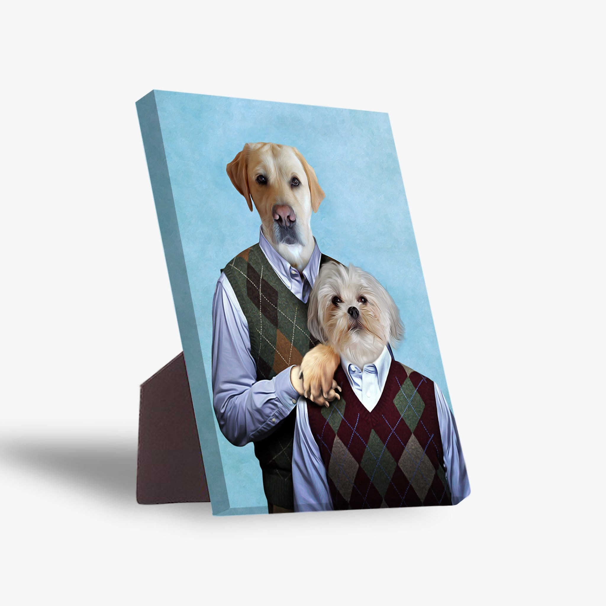 'Step Doggos' Personalized 2 Pet Standing Canvas