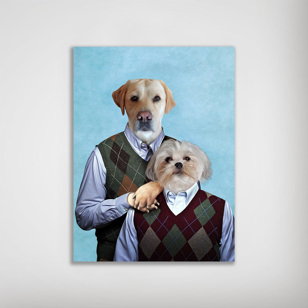Step Doggos: Personalized 2 Dog Poster