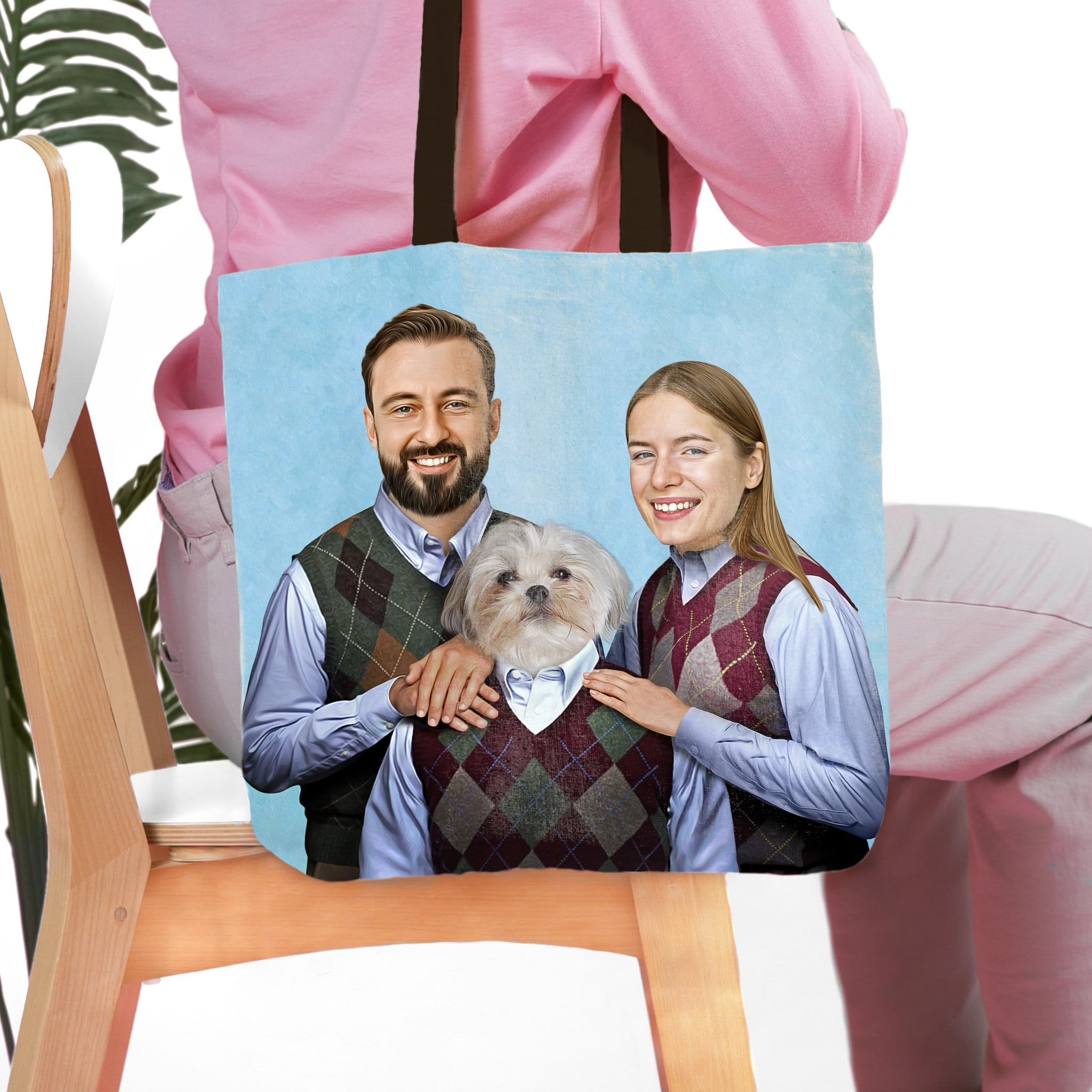 'Step Doggo/Humans' Personalized Tote Bag