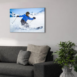 'The Skier' Personalized Pet Canvas