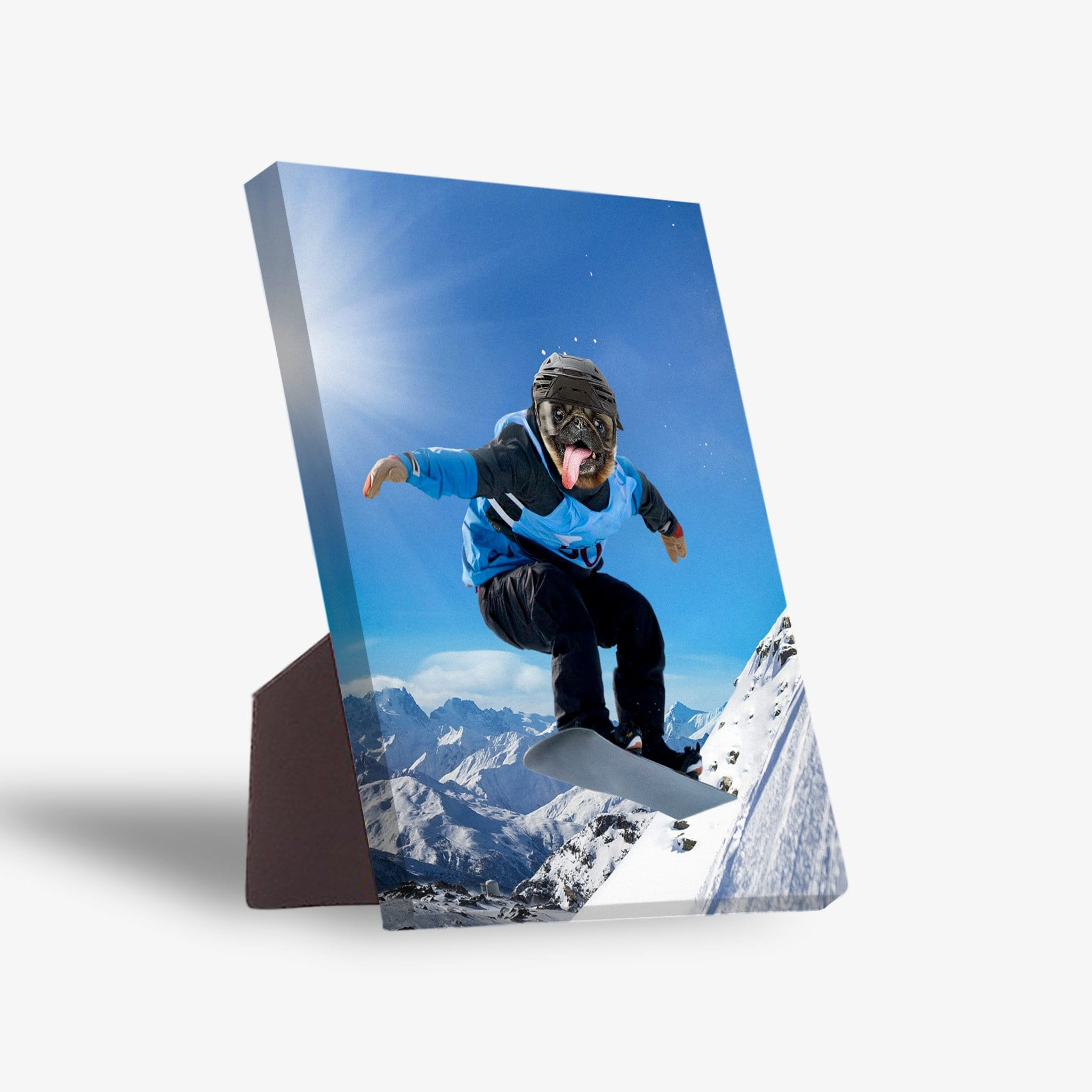 'The Snowboarder' Personalized Pet Standing Canvas