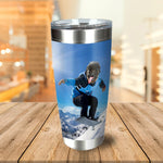 'The Snowboarder' Personalized Tumbler