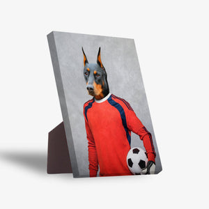 'The Soccer Goalie' Personalized Pet Standing Canvas