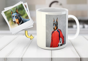 'The Soccer Goalie' Personalized Pet Mug