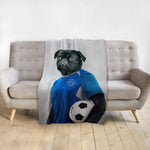 'The Soccer Player' Personalized Pet Blanket