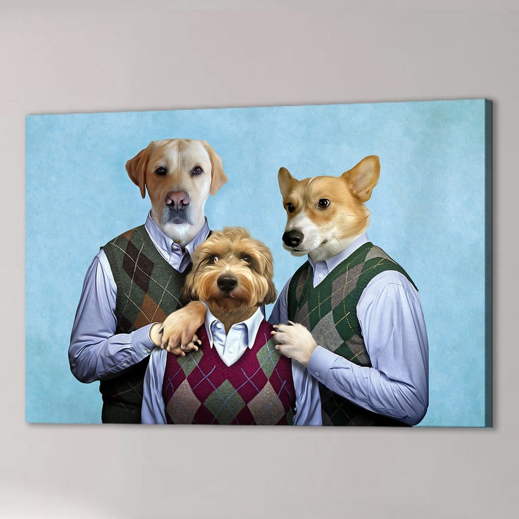 'Step Doggos and Doggette' 3 Pet Canvas