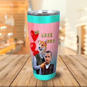 Step Doggo And Human Valentines Personalized Tumbler