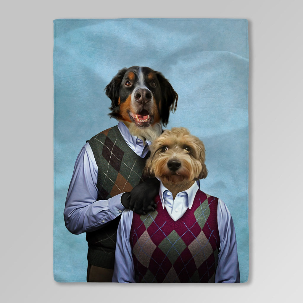 'Step Doggo & Doggette' Personalized 2 Pet Blanket