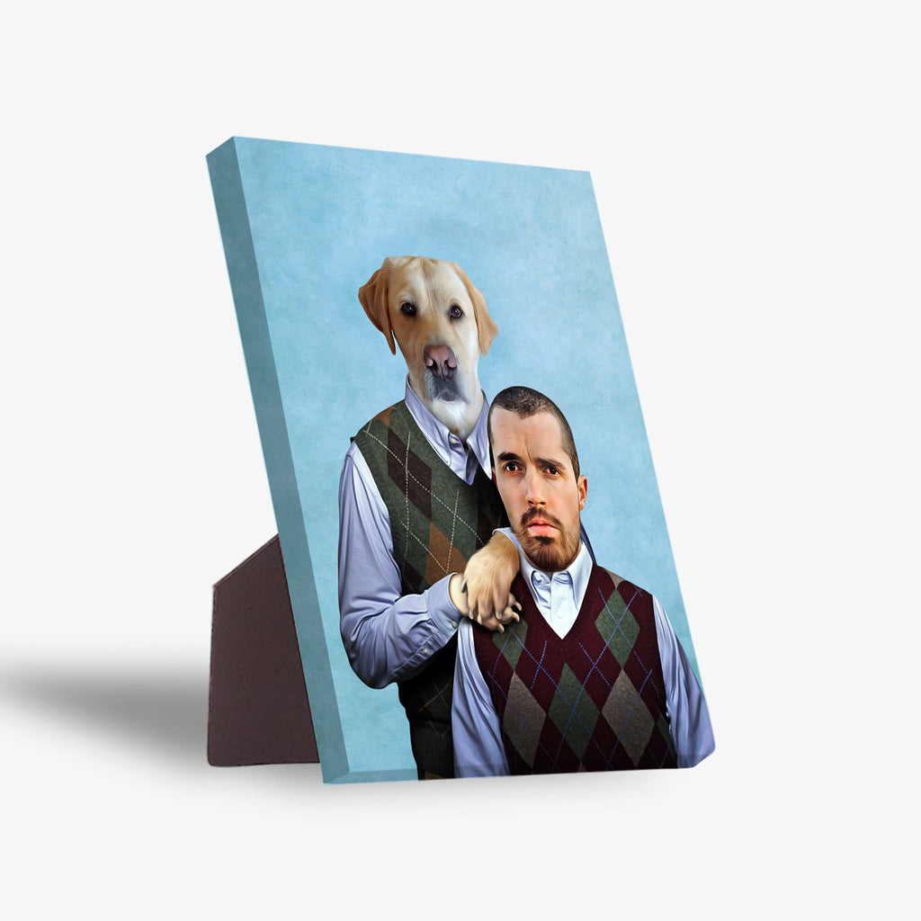 Step Doggo & Human Personalized Standing Canvas
