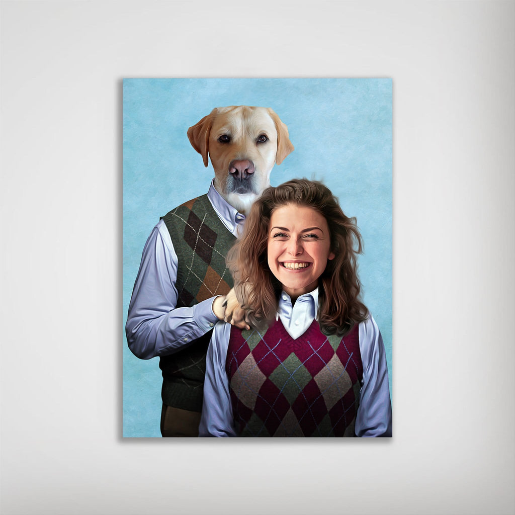 'Step Doggo & Human (Female)' Personalized Poster