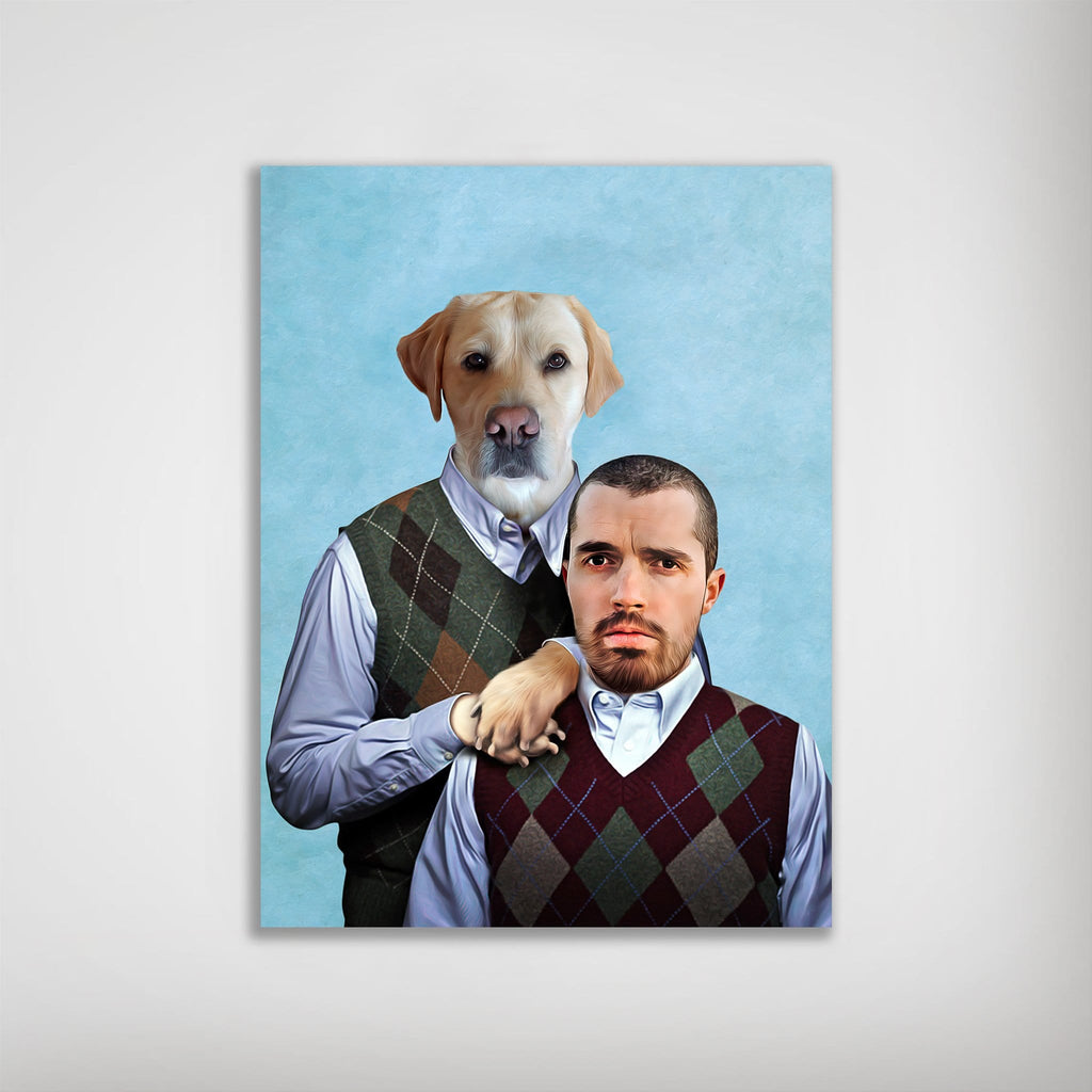 'Step Doggo & Human' Personalized Poster