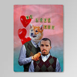 'Step Doggo & Human Valentines Edition ' Personalized Blanket